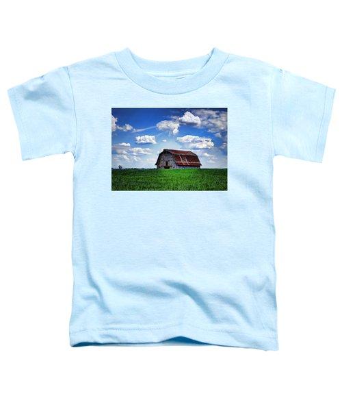 Riverbottom Barn Against The Sky Toddler T-Shirt