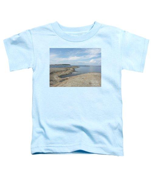 Rocky Coastline In Hamina Toddler T-Shirt