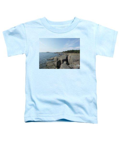 Rocky Seashore 2 In Hamina  Toddler T-Shirt