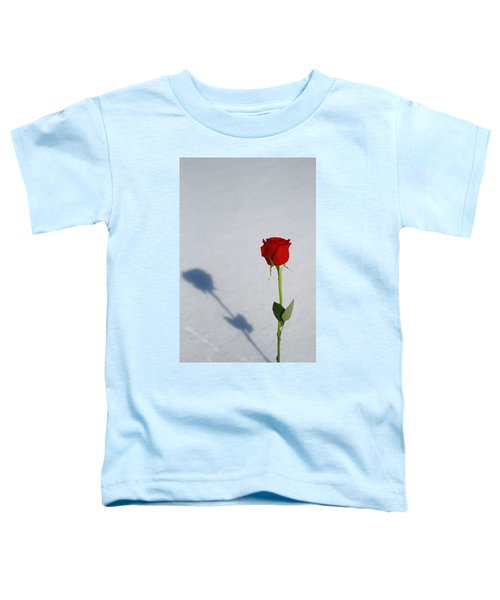 Rose In Snow Spring Approaches Toddler T-Shirt