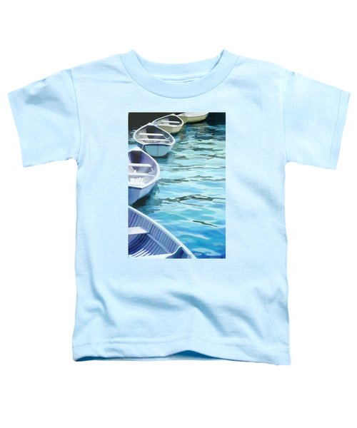 Rounded Row Of Rowboats Toddler T-Shirt