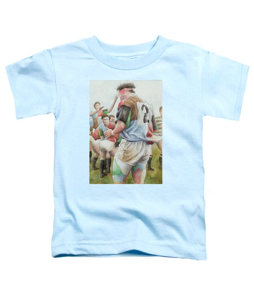 Rugby Match Harlequins V Northampton, Brian Moore At The Line Out, 1992 Wc Toddler T-Shirt