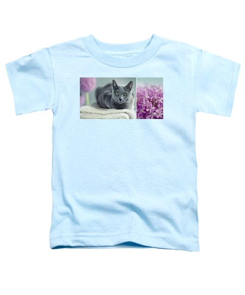 Russian Blue Collage Toddler T-Shirt