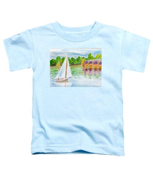Sailing By The Bridge Toddler T-Shirt