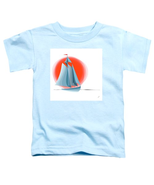 Sailing Red Sun Toddler T-Shirt