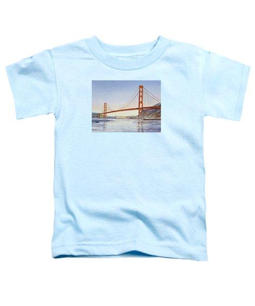 San Francisco California Golden Gate Bridge Toddler T-Shirt