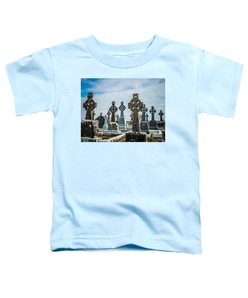 Toddler T-Shirt featuring the photograph Sea  Of Celtic Crosses by James Truett