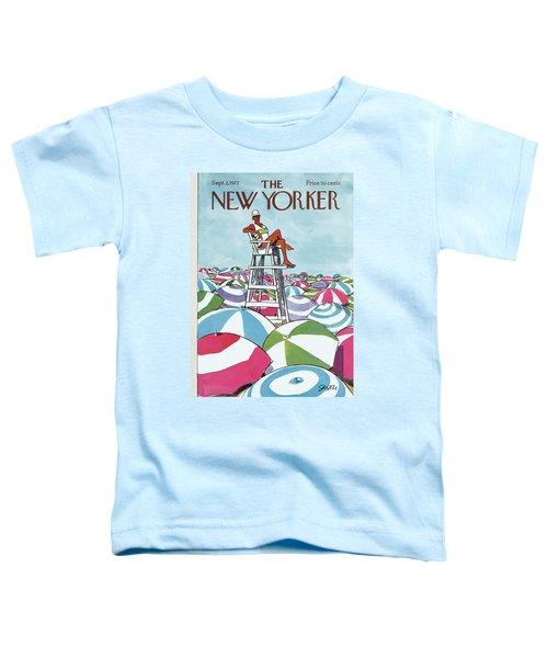 Sea Of Umbrellas Toddler T-Shirt