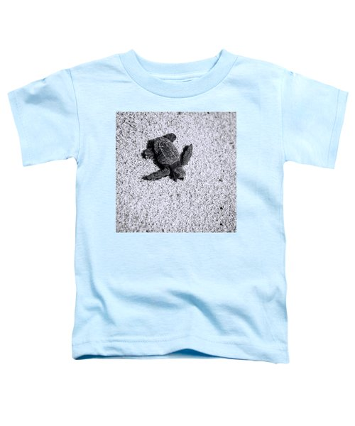 Sea Turtle In Black And White Toddler T-Shirt