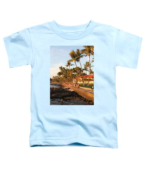 Seawall At Sunset Toddler T-Shirt