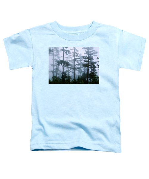 Silhouette Of Trees With Fog Toddler T-Shirt
