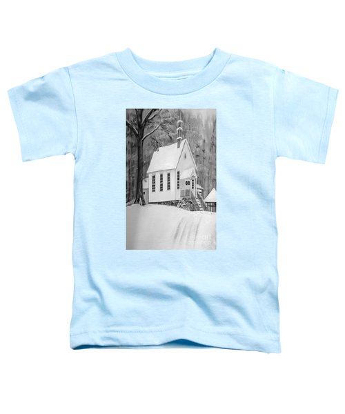 Snowy Gates Chapel -white Church - Portrait View Toddler T-Shirt