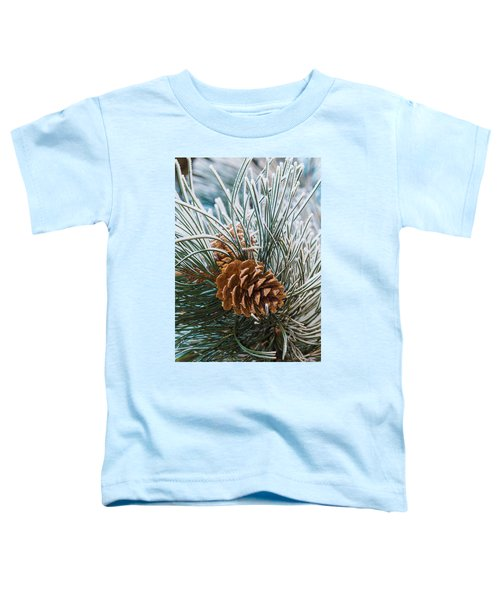Snowy Pine Cones Toddler T-Shirt
