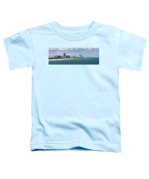 South Beach On A Summer Day Toddler T-Shirt