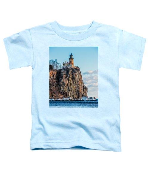Split Rock Lighthouse In Winter Toddler T-Shirt