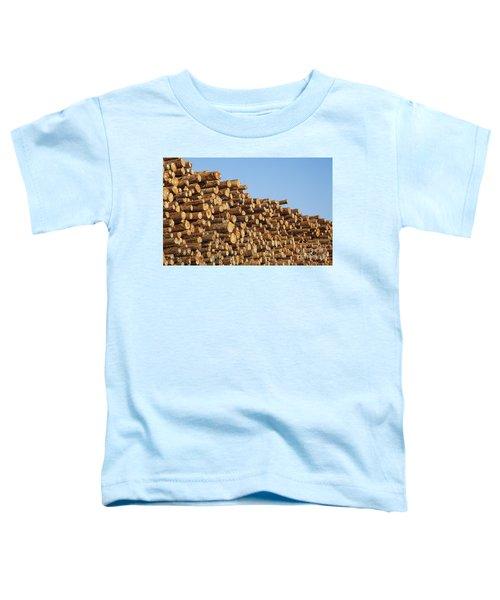 Stacks Of Logs Toddler T-Shirt