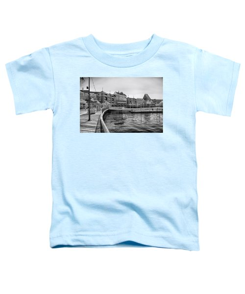 Strolling On The Boardwalk In Black And White Walt Disney World Toddler T-Shirt