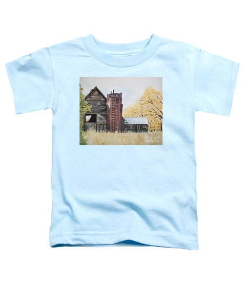Golden Aged Barn -washington - Red Silo  Toddler T-Shirt