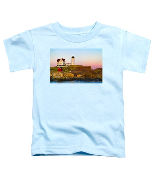 Sunset At Nubble Lighthouse Toddler T-Shirt