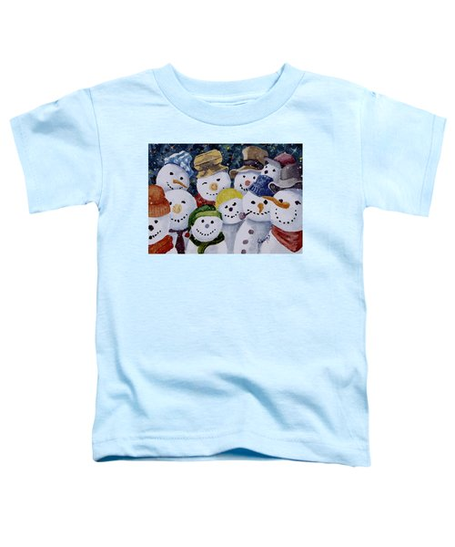 Ten Little Snowmen Toddler T-Shirt