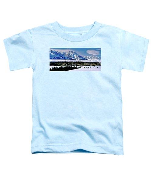 Teton Valley Winter Grand Teton National Park Toddler T-Shirt