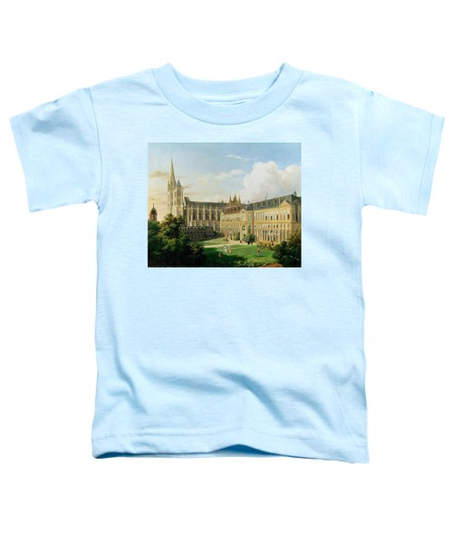 The Abbey Church Of Saint-denis And The School Of The Legion Of Honour In 1840 Oil On Canvas Toddler T-Shirt