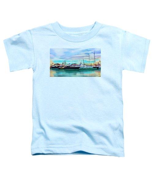 The Boats Of Malaga Spain Toddler T-Shirt