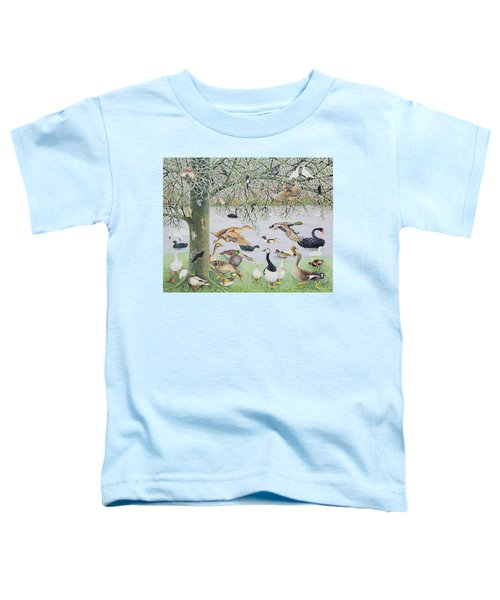 The Odd Duck Acrylic On Canvas Toddler T-Shirt