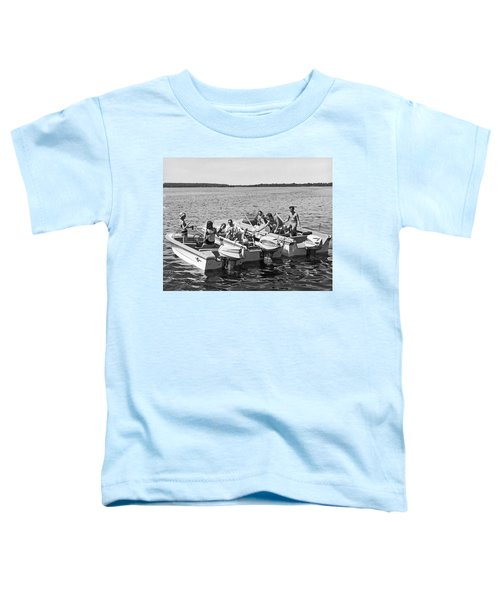 Three Power Boats Gather Together For Summer Boating Fun Toddler T-Shirt