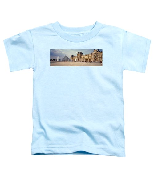 Tourists Near A Pyramid, Louvre Toddler T-Shirt by Panoramic Images