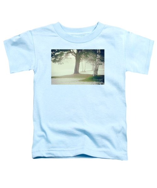 Toddler T-Shirt featuring the photograph Trees In Fog by Silvia Ganora