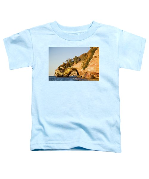 Trees On Cliff, Lake Superior, Pictured Toddler T-Shirt