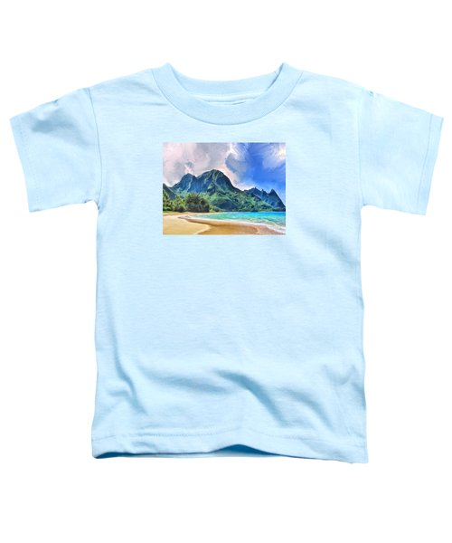 Tunnels Beach Kauai Toddler T-Shirt