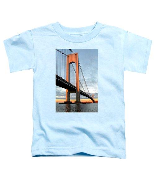 Verrazano Bridge At Sunrise - Verrazano Narrows Toddler T-Shirt