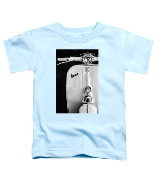 Vespa Scooter -0748bw Toddler T-Shirt