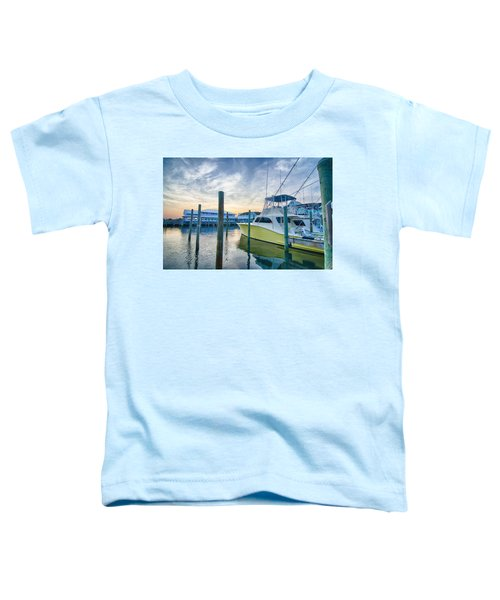 View Of Sportfishing Boats At Marina Toddler T-Shirt