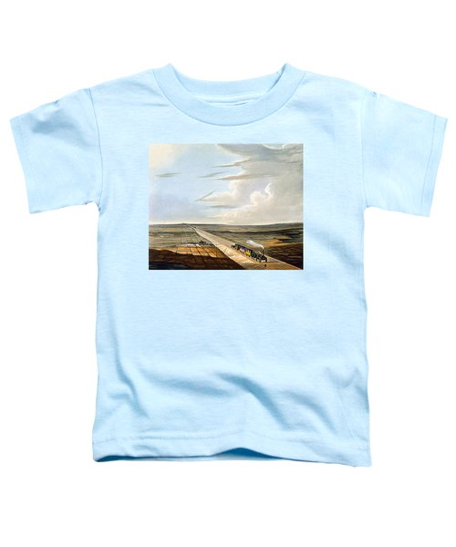 View Of The Railway Across Chat Moss Toddler T-Shirt