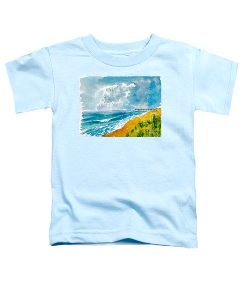 Virginia Beach With Pier Toddler T-Shirt