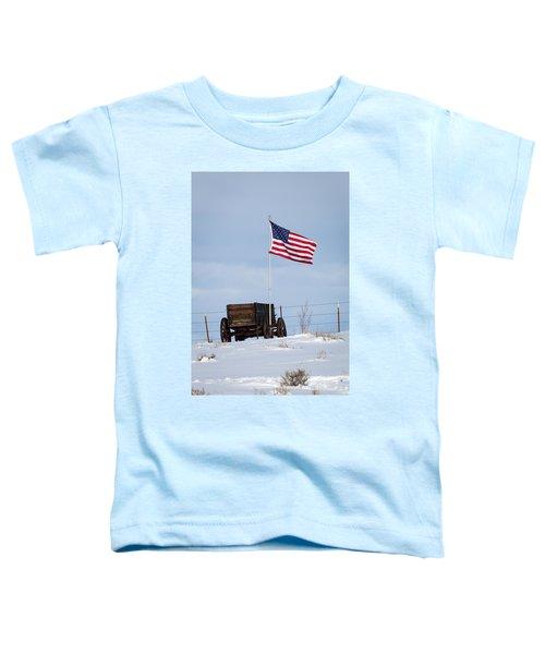 Wagon And Flag Toddler T-Shirt