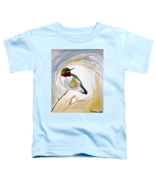 Watercolor - Broad-tailed Hummingbird Toddler T-Shirt