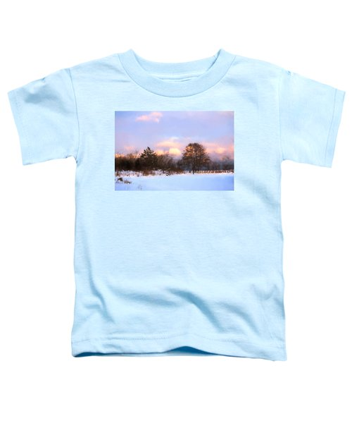 Watercolor Winter - Cold And Colorful Day On The Lake Toddler T-Shirt
