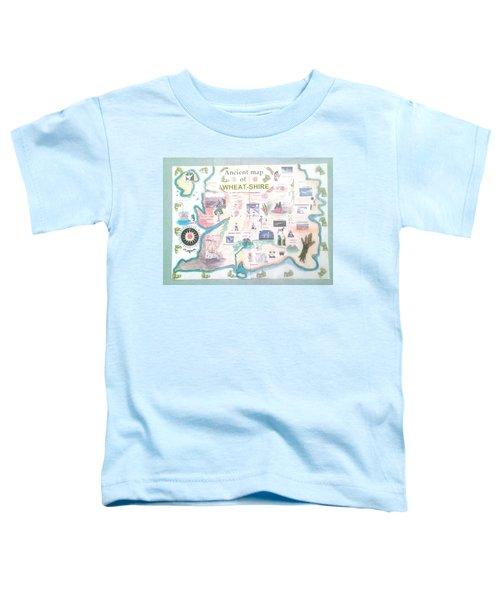 Wheatshires Aincient Map Toddler T-Shirt