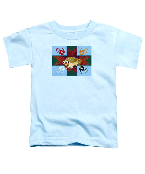 Toddler T-Shirt featuring the painting White Buffalo Calf Legend by Chholing Taha