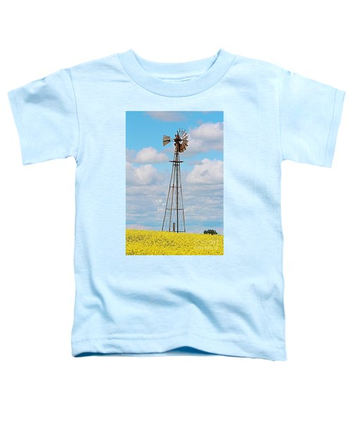 Windmill In Canola Field Toddler T-Shirt