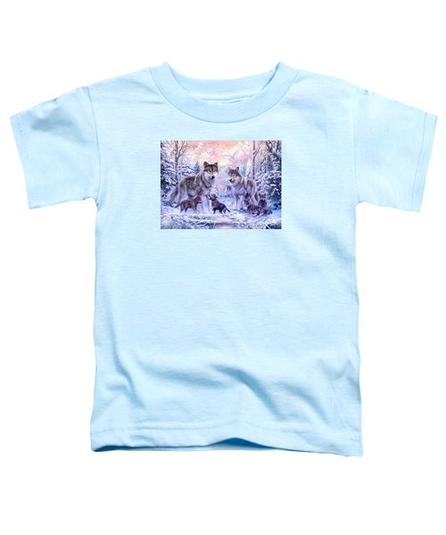 Winter Wolf Family  Toddler T-Shirt by Jan Patrik Krasny