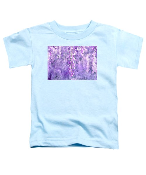 Wisteria Grunge Abstract Toddler T-Shirt