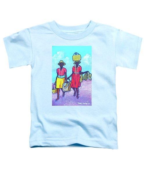 Women On Beach At Grenada Toddler T-Shirt