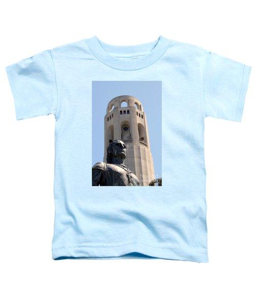 Coit Tower Statue Columbus Toddler T-Shirt