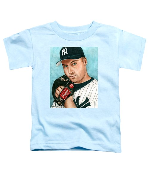 Derek Jeter  Toddler T-Shirt by Bruce Lennon