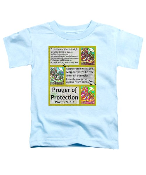 Jewish Prayer Of Protection City Of Jerusalem Gold Toddler T-Shirt